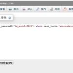 wordpress忘记密码-使用mysql查询语句重置密码